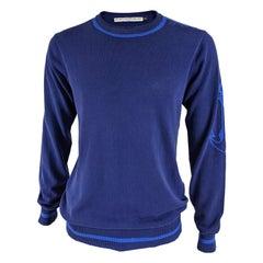 JC de Castelbajac Mens Vintage Blue Cotton Jumper