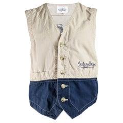 JC de Castelbajac Vintage Mens Embroidered Vest