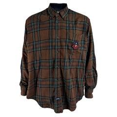 Jc De Castelbajac Vintage Mens Huckleberry Hound Flannel Shirt, 1990s