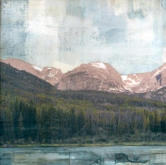 """Arctic Lake I"" Mixed Media Painting"
