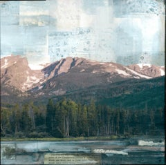 """Arctic Lake II"" Mixed Media Painting"