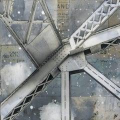 """Bridge II,"" Mixed Media Painting"