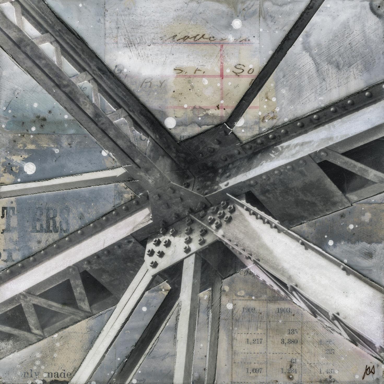 """Bridge IV,"" Mixed Media Painting"