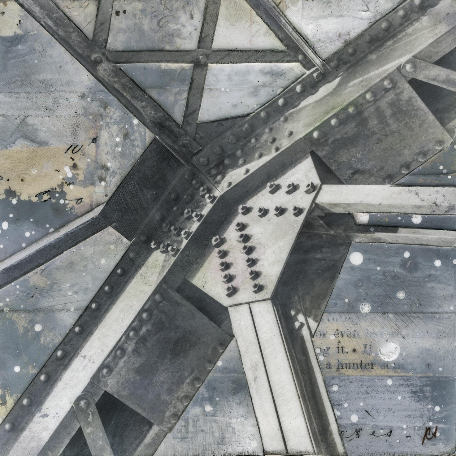 """Bridge,"" Mixed Media Painting"