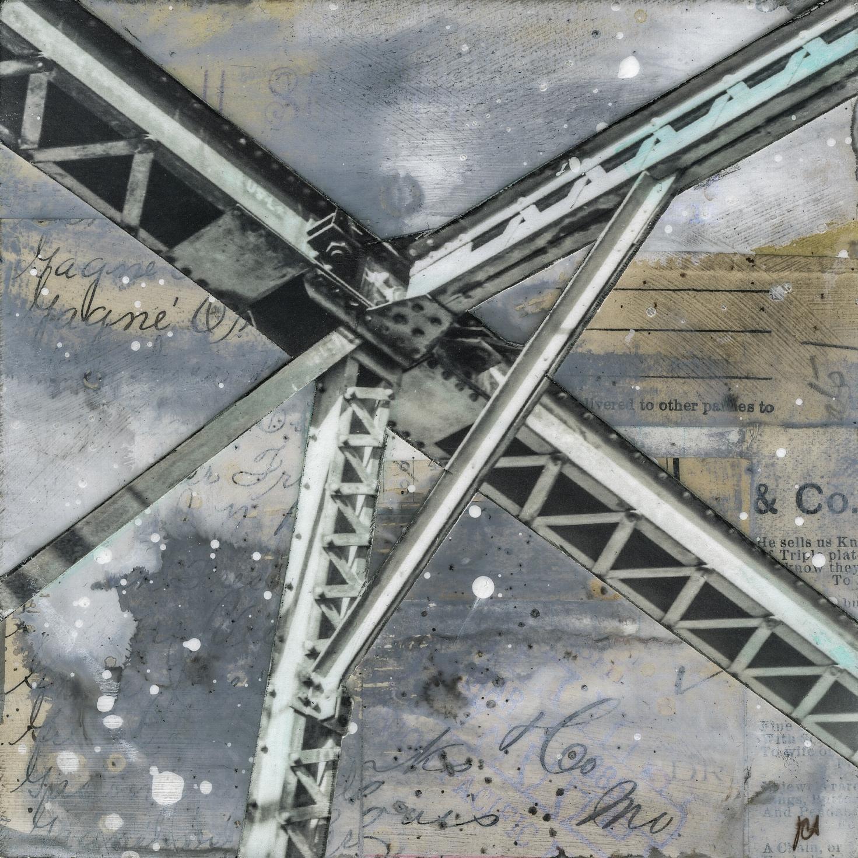 """""""Bridge V,"""" Mixed Media Painting"""