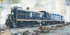 """Central GP9"" Mixed Media Painting"