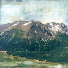 """Few Small Glaciers"" Mixed Media Painting"