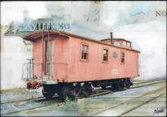 """NYC Caboose II"" Mixed Media Painting"