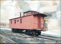"""NYC Caboose"" Mixed Media Painting"