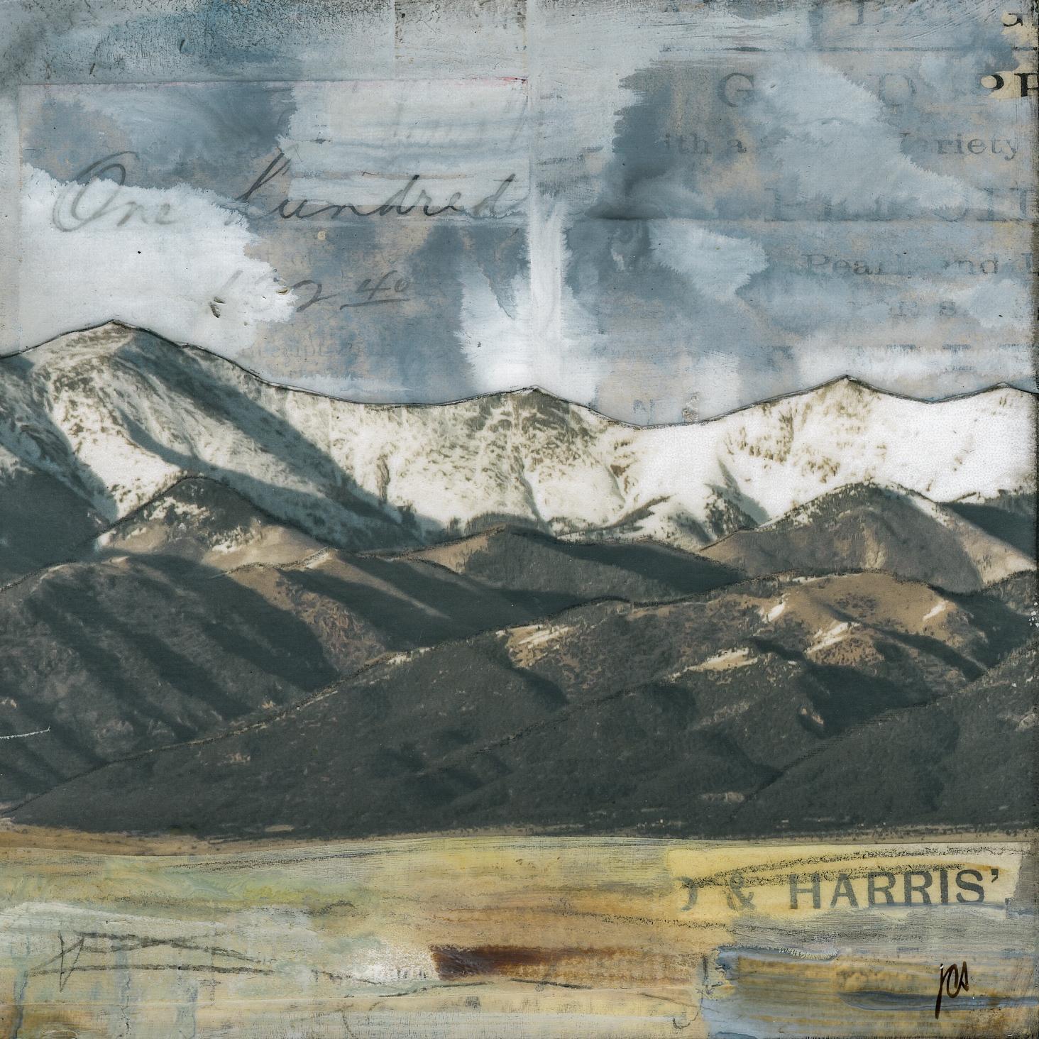 """""""Peaks II,"""" Mixed Media Painting"""