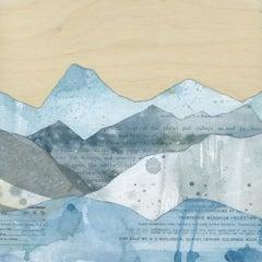 """Peaks: Plains & Valleys,"" Mixed Media Painting"