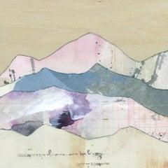 """""""Peaks: Purple Majesty,"""" Mixed Media Painting"""