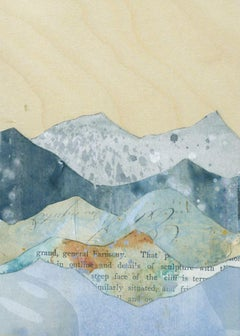 """""""Peaks: Steep Face of the Cliff,"""" Mixed Media Painting"""