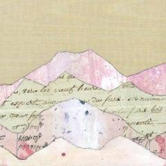 """""""Peaks: Sunrise Hues"""" Mixed Media Painting"""