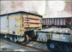 """Rail Collection"" Mixed Media Painting"