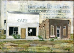"""The Former Cafe"" Mixed Media Painting"