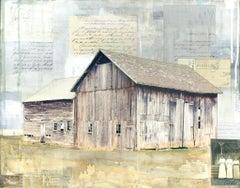 """Three Sisters Barn"" Mixed Media Painting"