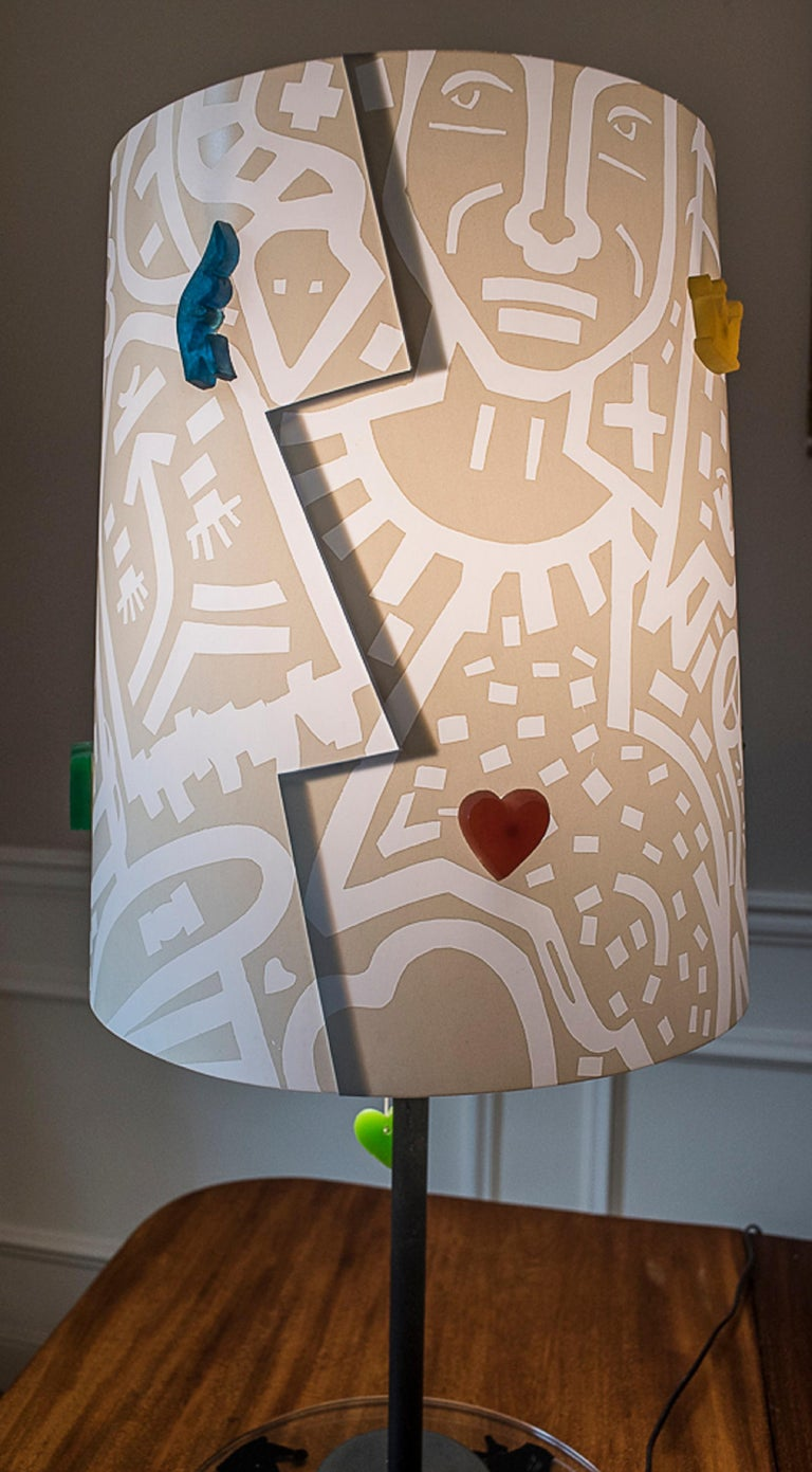 J.Charles Castelbajac Table Lamp with Diferentescolors and Patterns of Stars For Sale 2