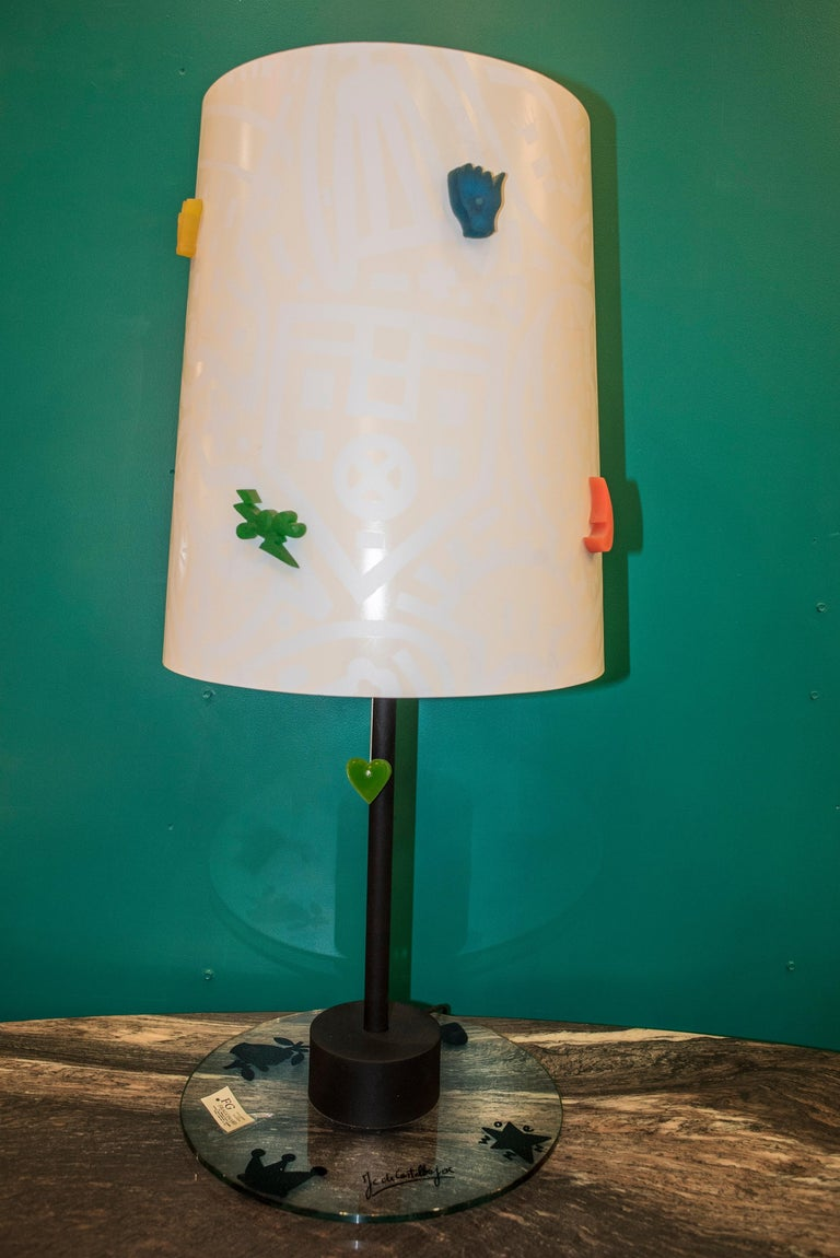 Late 20th Century J.Charles Castelbajac Table Lamp with Diferentescolors and Patterns of Stars For Sale