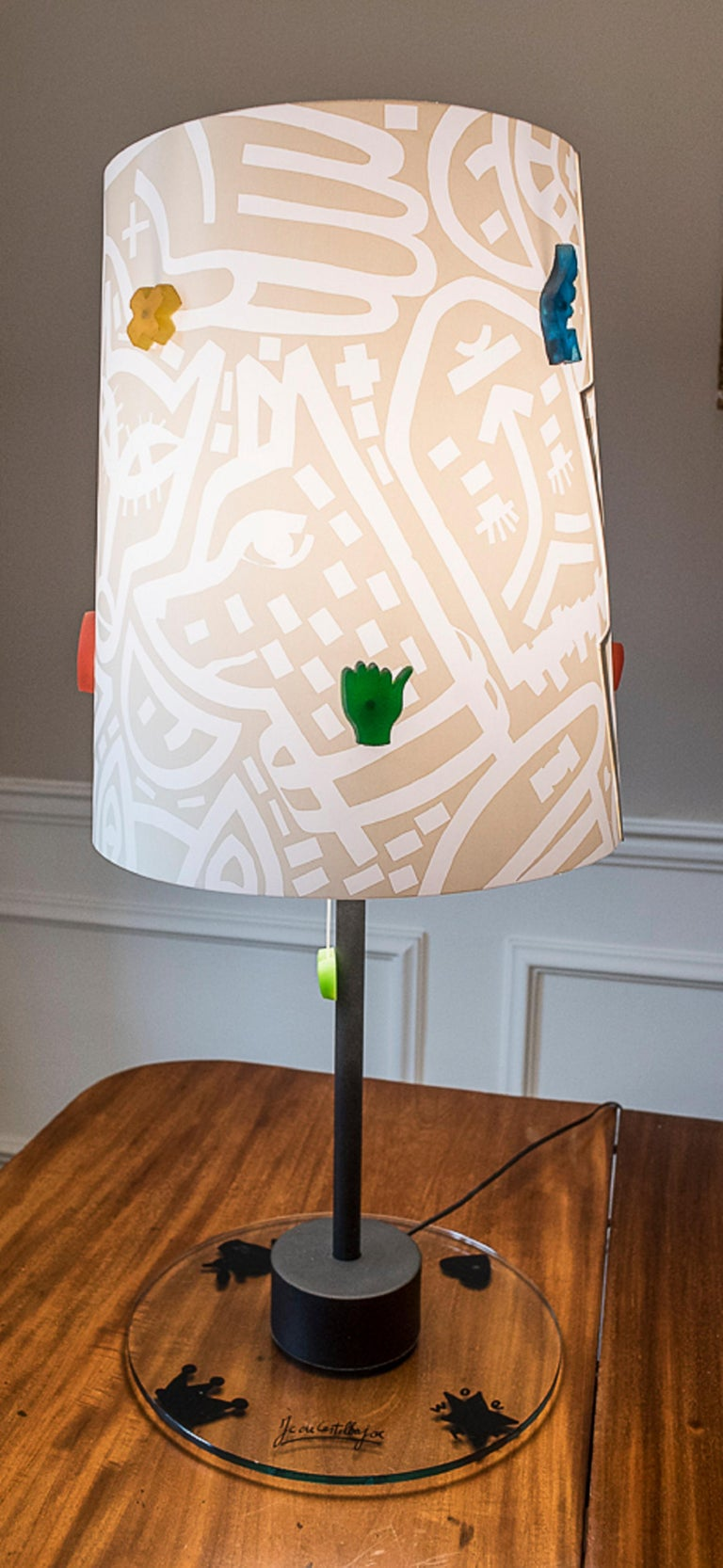 Crystal J.Charles Castelbajac Table Lamp with Diferentescolors and Patterns of Stars For Sale