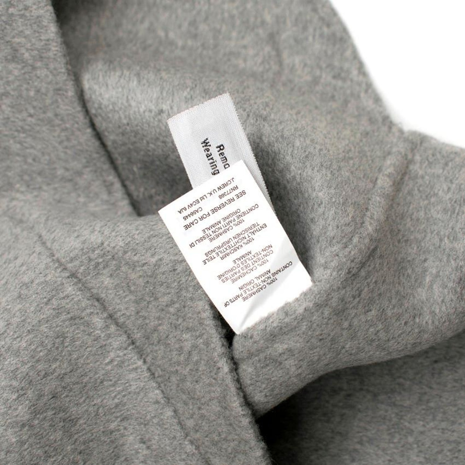9428487e22e J.Crew grey double-faced cashmere jacket US 4 For Sale at 1stdibs