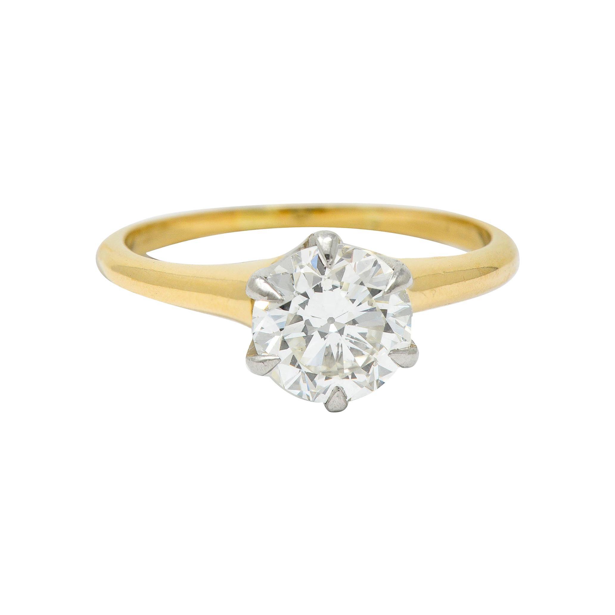 J.E. Caldwell 1.19 Carats Diamond 14 Karat Gold Solitaire Engagement Ring GIA