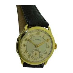 J.E. Caldwell 18 Karat Yellow Gold Art Deco Watch with Breguet Numerals