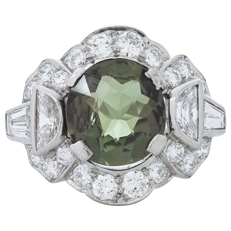 J.E. Caldwell & Co. Art Deco 1.87 Carat Alexandrite and Diamond Platinum Ring
