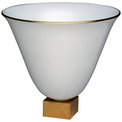 J.E. Ruhlmann Vase No. 3 White Porcelain Vase by Manufacture Nationale de Sèvres