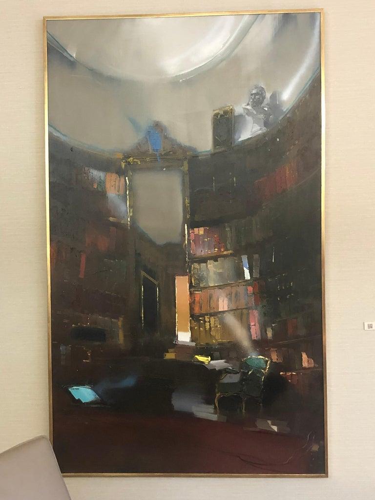Jean Arcelin Interior Painting - Bibliothèque du Salon Oval