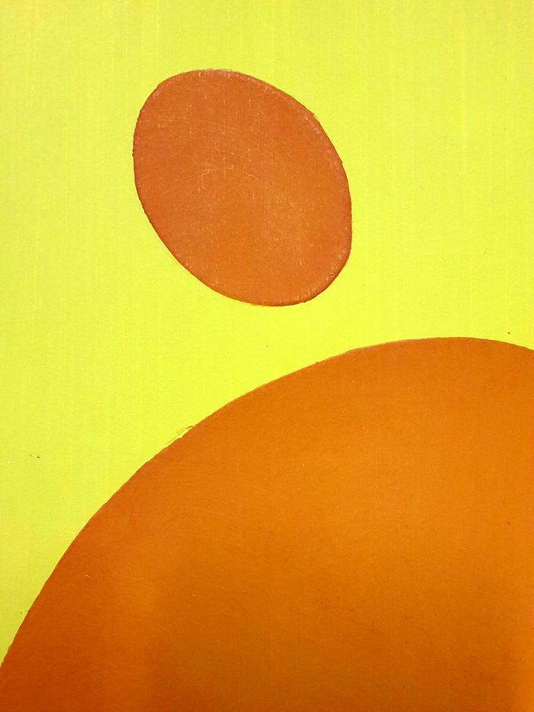 Jean Arp (after) -  Composition - Pochoir - Orange Figurative Print by Jean Arp