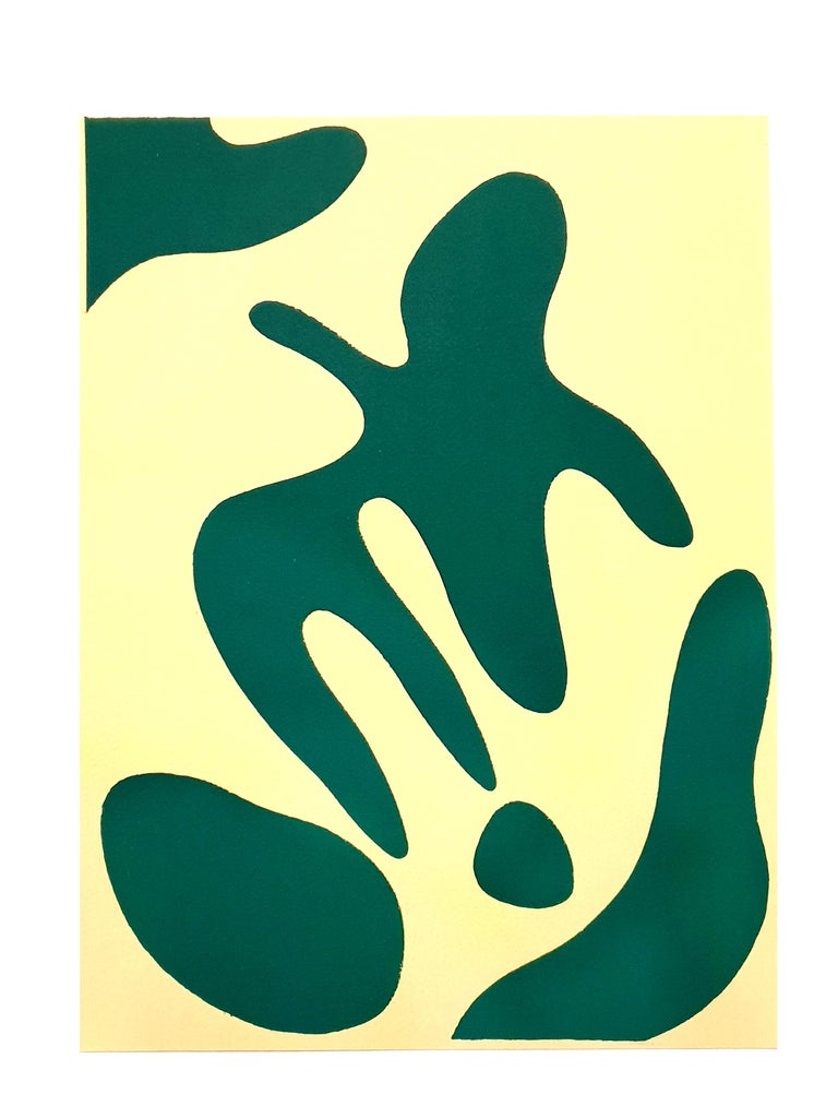 Jean Arp -  Composition - Original Etching - Blue Abstract Print by Jean Arp