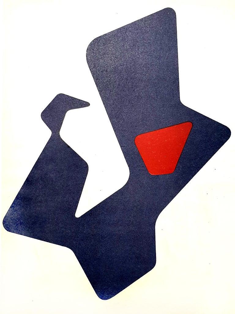 Jean Arp -  Original Lithograph - Surrealist Print by Jean Arp