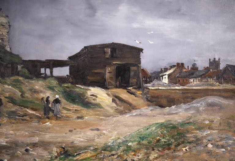 Cliffs of Le Pollet - Dieppe - Impressionist Oil, Landscape by Antoine Guillemet For Sale 1