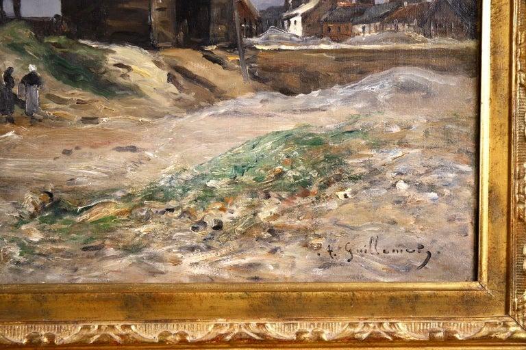Cliffs of Le Pollet - Dieppe - Impressionist Oil, Landscape by Antoine Guillemet For Sale 2