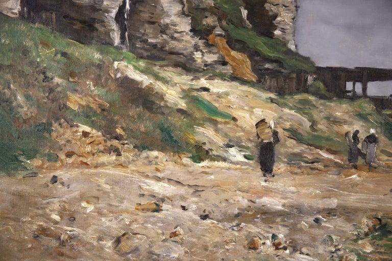 Cliffs of Le Pollet - Dieppe - Impressionist Oil, Landscape by Antoine Guillemet For Sale 4