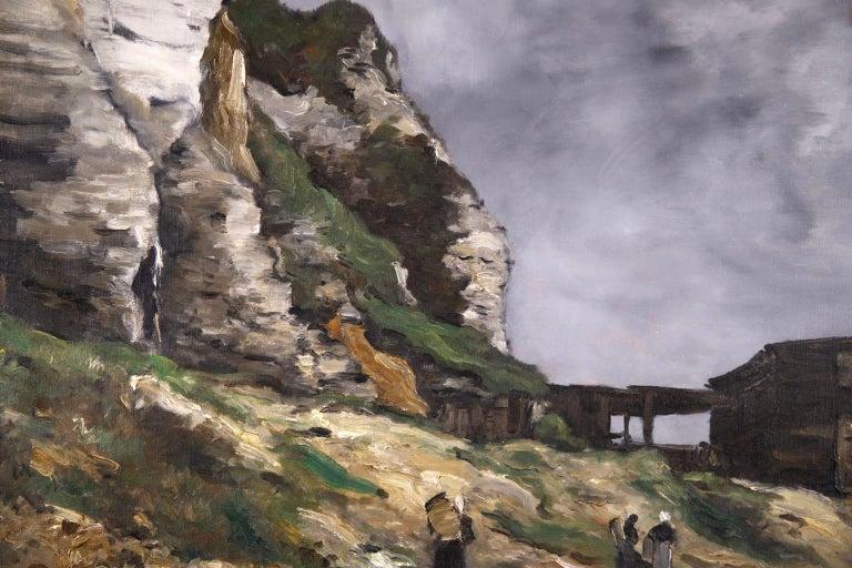 Cliffs of Le Pollet - Dieppe - Impressionist Oil, Landscape by Antoine Guillemet For Sale 5