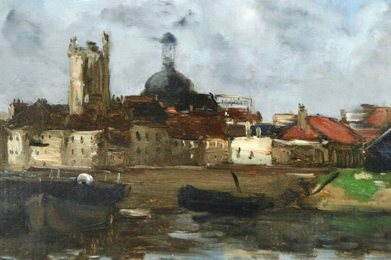 Dieppe - Impressionist Oil, French Landscape by Antoine Guillemet For Sale 1