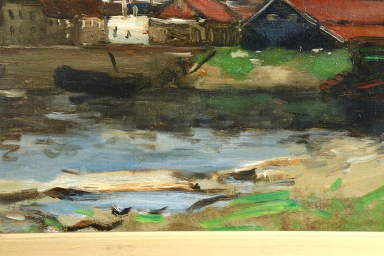 Dieppe - Impressionist Oil, French Landscape by Antoine Guillemet For Sale 2