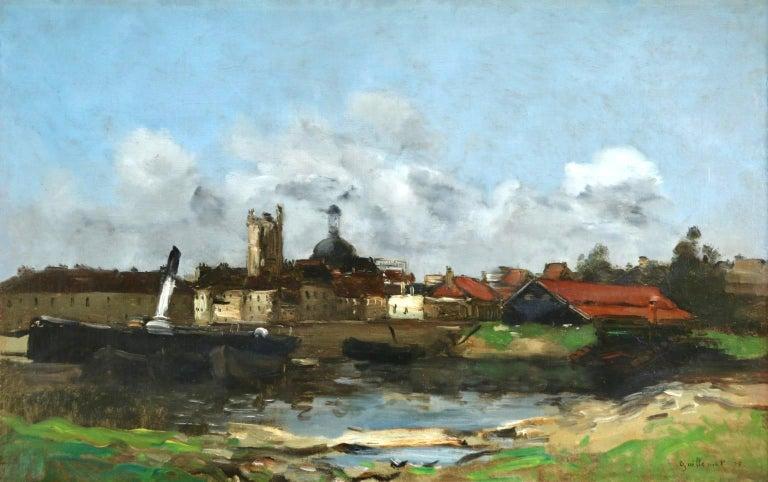 Jean-Baptiste-Antoine Guillemet Landscape Painting - Dieppe - Impressionist Oil, French Landscape by Antoine Guillemet