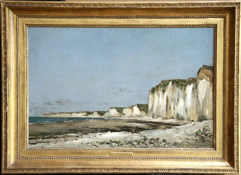 Jean-Baptiste-Antoine Guillemet Figurative Painting - Saint-Vaast-La-Hougue, Normandy- 19th Century Oil, Coastal Landscape - Guillemet