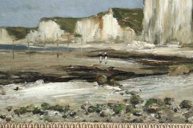 Saint-Vaast-La-Hougue, Normandy- 19th Century Oil, Coastal Landscape - Guillemet - Impressionist Painting by Jean-Baptiste-Antoine Guillemet