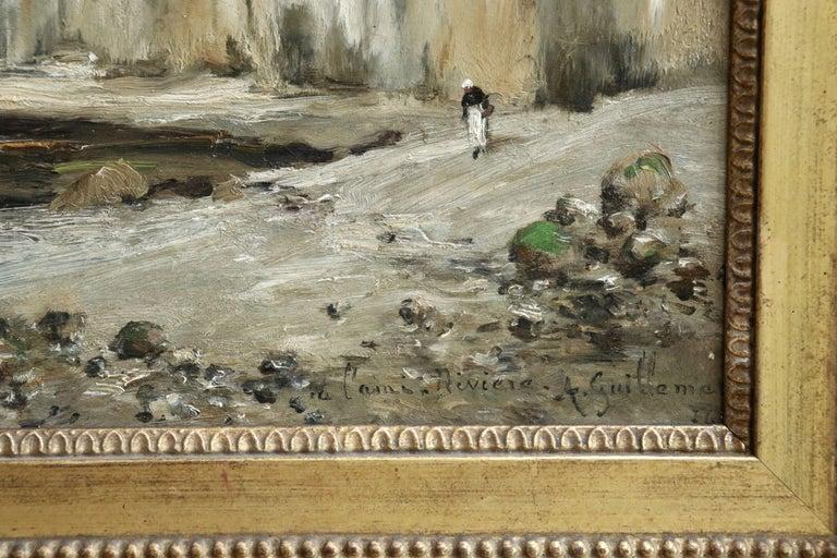 Saint-Vaast-La-Hougue, Normandy- 19th Century Oil, Coastal Landscape - Guillemet 2