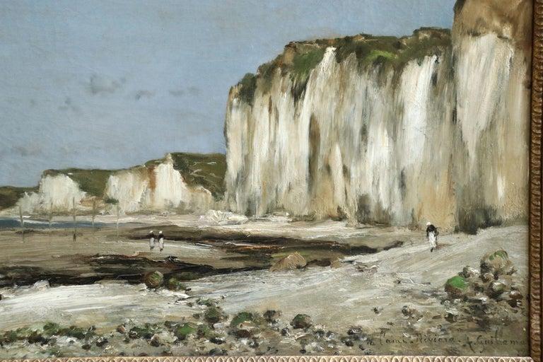 Saint-Vaast-La-Hougue, Normandy- 19th Century Oil, Coastal Landscape - Guillemet - Painting by Jean-Baptiste-Antoine Guillemet