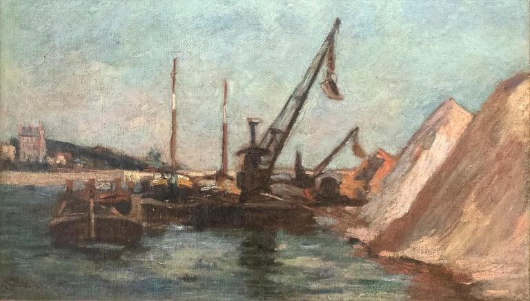 Jean Baptiste-Armand Guillaumin Landscape Painting - Quai de Bercy