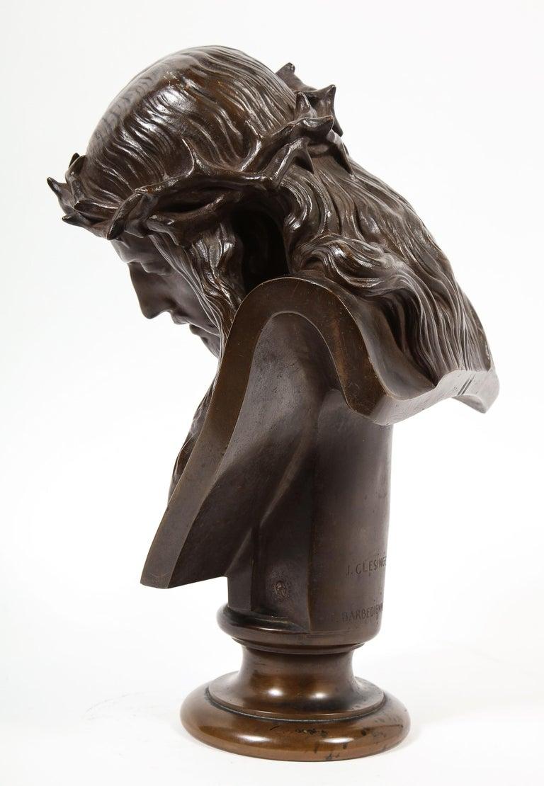 Jean-Baptiste Auguste Clesinger, French Bronze Bust of Jesus Christ, Barbedienne For Sale 6