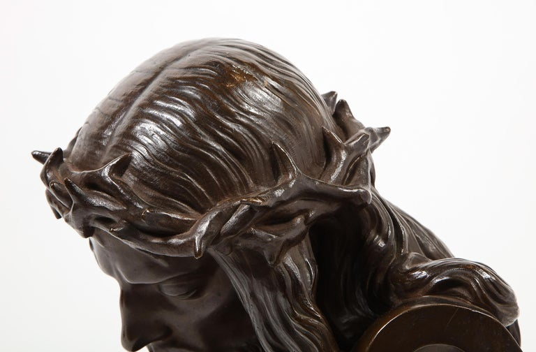 Jean-Baptiste Auguste Clesinger, French Bronze Bust of Jesus Christ, Barbedienne For Sale 7