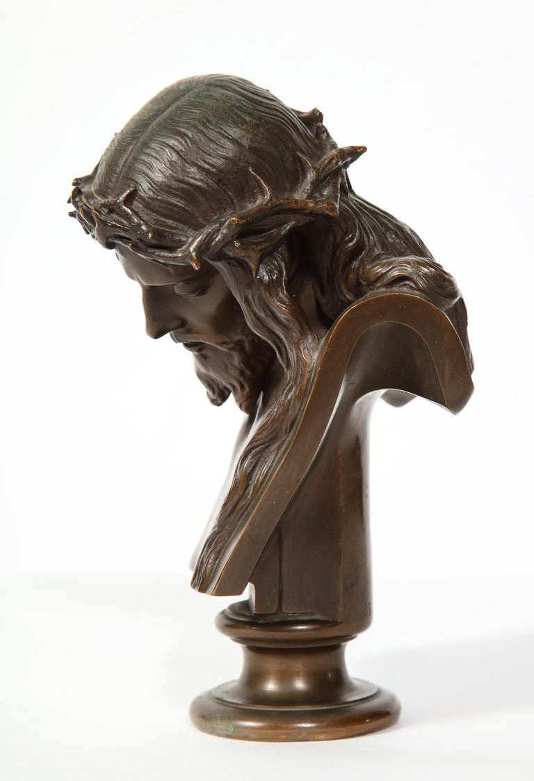 Jean-Baptiste Auguste Clesinger, French Bronze Bust of Jesus Christ, Barbedienne 9