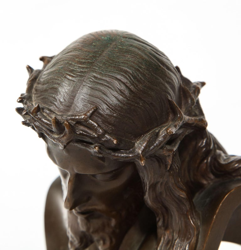 Jean-Baptiste Auguste Clesinger, French Bronze Bust of Jesus Christ, Barbedienne 12