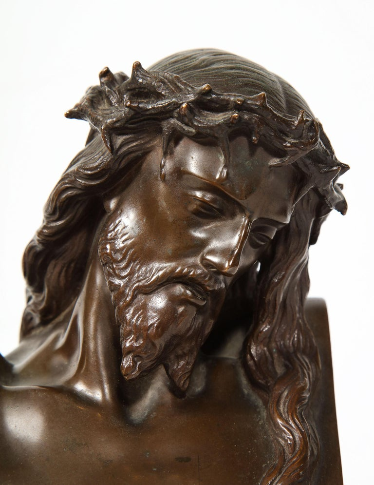 Jean-Baptiste Auguste Clesinger, French Bronze Bust of Jesus Christ, Barbedienne 13